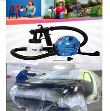 Paint Zoom Electrical Portable Spray Painting Machine Set for Car, Walls, Furniture, Metals - 650 W 800 ml capacity