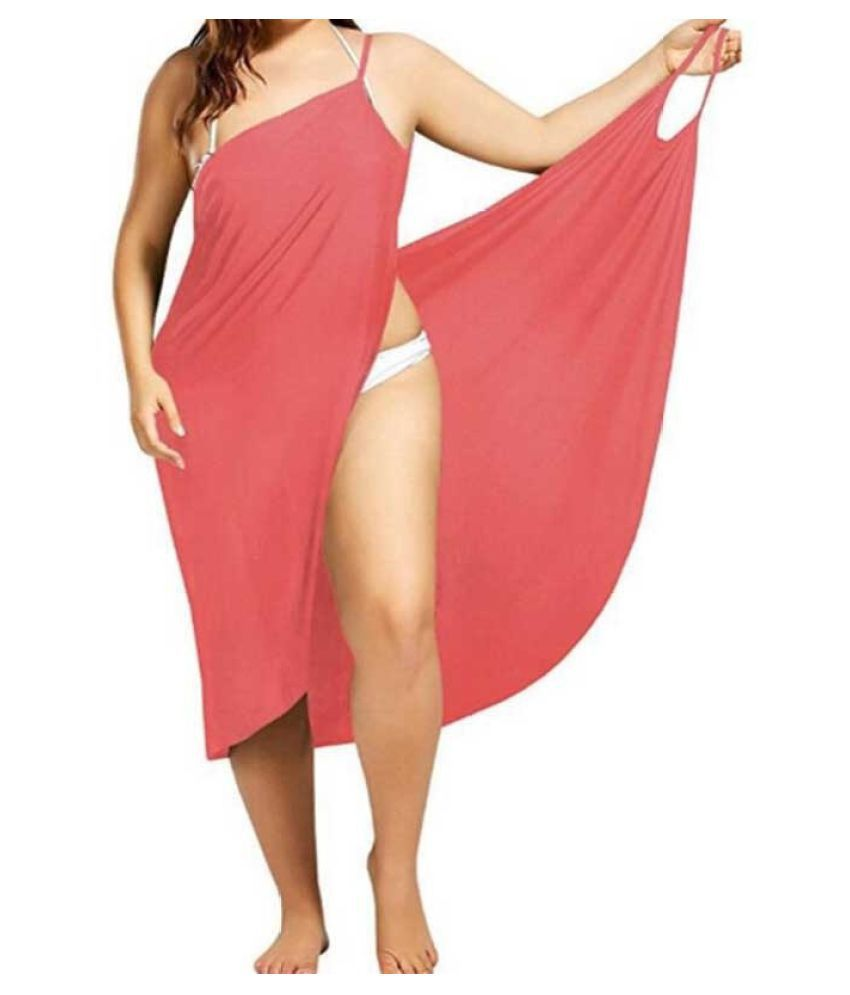 613b0215d4 Buy Destiny Beach Cover Up Wrap Dress Bikini Swimsuit Bathing Suit  Robe-Pink Online at Best Prices in India - Snapdeal