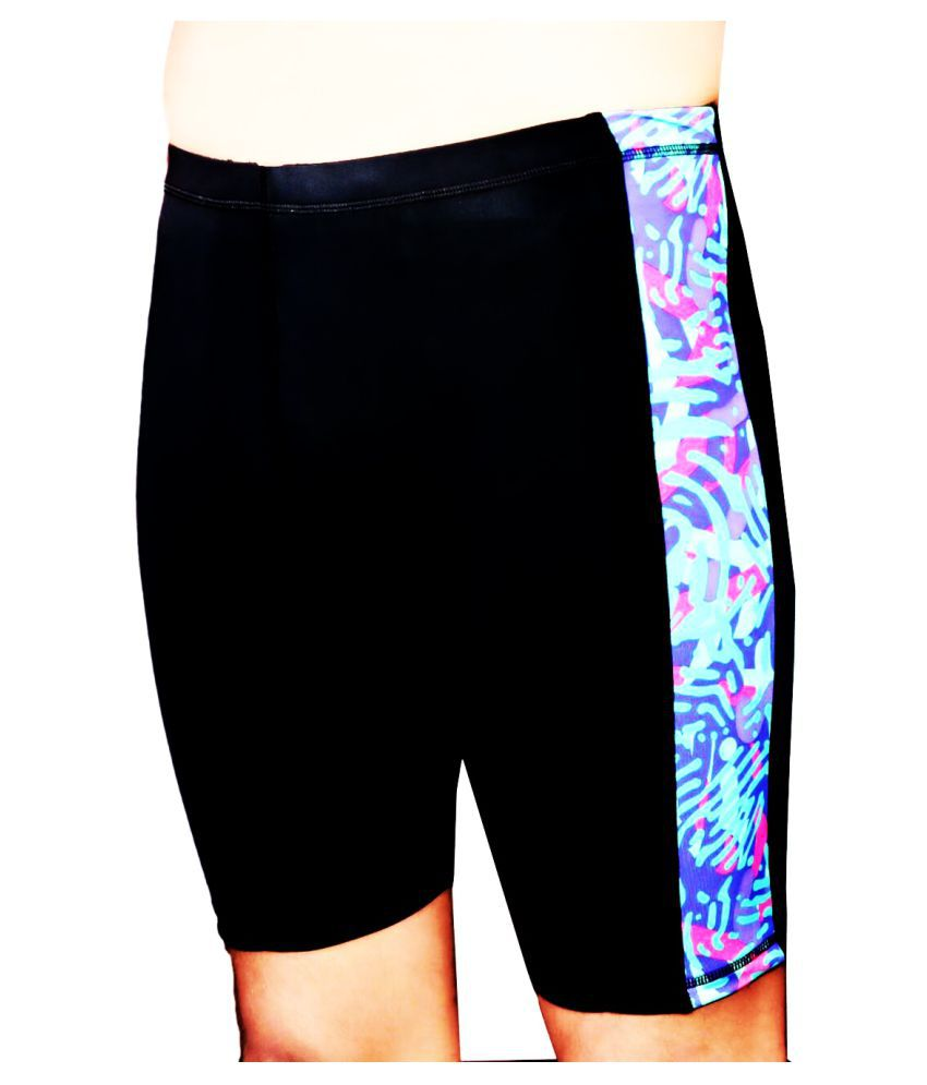 REENAX Printed Cotton Lycra Fitness Shorts (Men & Women)