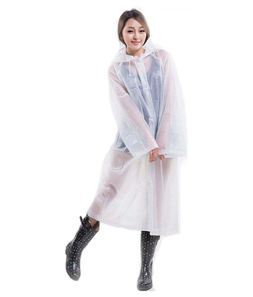 Changing Destiny Waterproof Long Raincoat - Off White