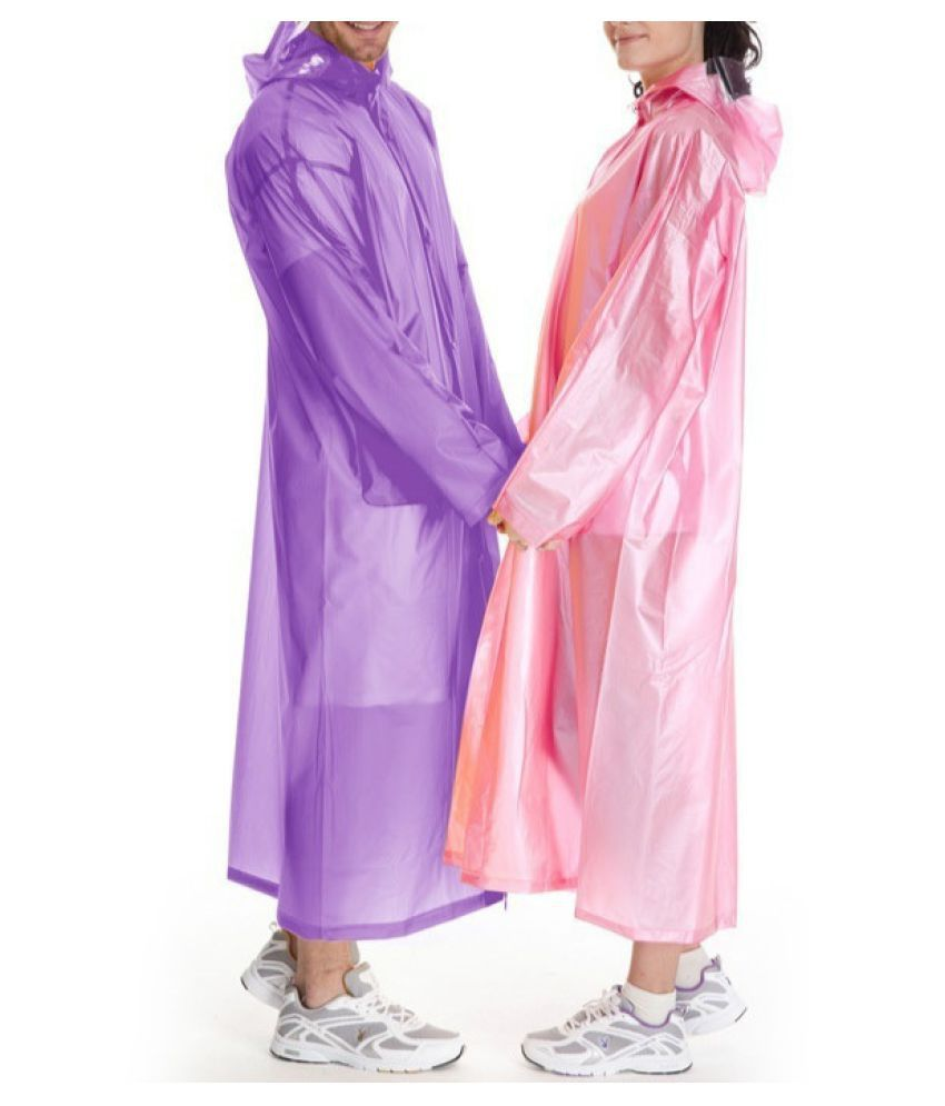 Changing Destiny Waterproof Long Raincoat - Pink