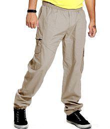 JTInternational Grey Cotton Trackpants Single