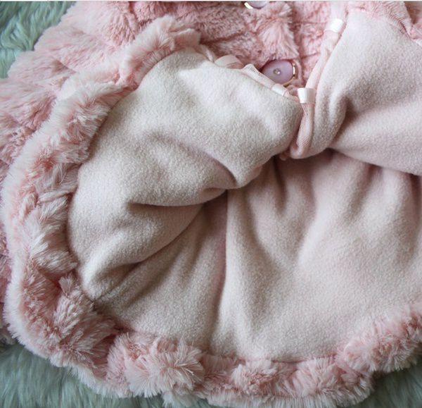 3cf79364e Kids Toddlers Girls Baby Faux Fur Fleece Lined Coat Kids Winter Warm ...