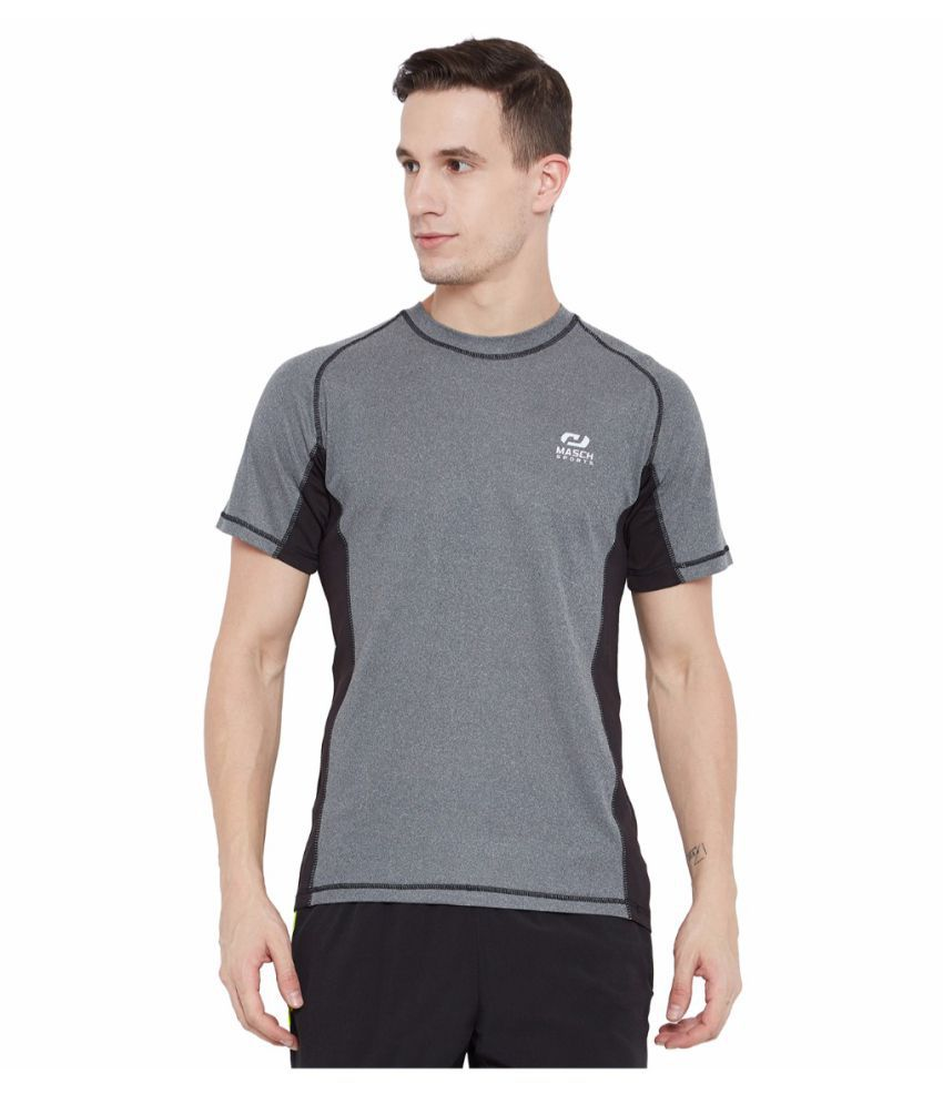 Masch Sports Grey Polyester T-Shirt Single Pack