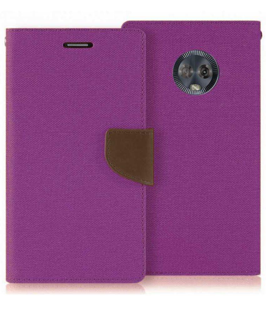 pretty nice 4cbac 254c8 Motorola Moto E5 Plus Flip Cover by MAJANSY - Purple
