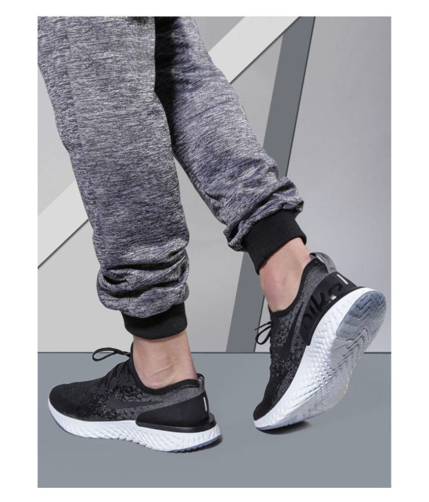 849ac649d325b Nike EPIC REACT FLYKNIT Black Running Shoes - Buy Nike EPIC REACT ...