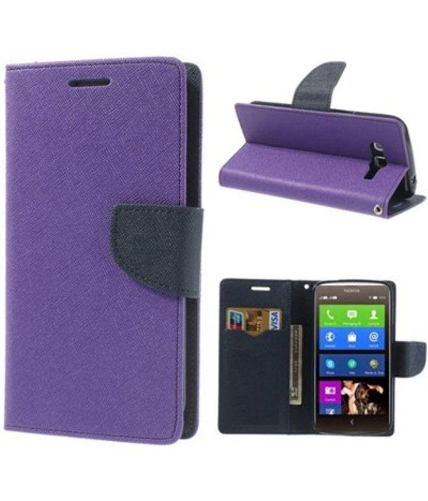 new concept 784a8 5f3a5 Xiaomi Redmi Mi4i Flip Cover by Kosher Traders - Purple