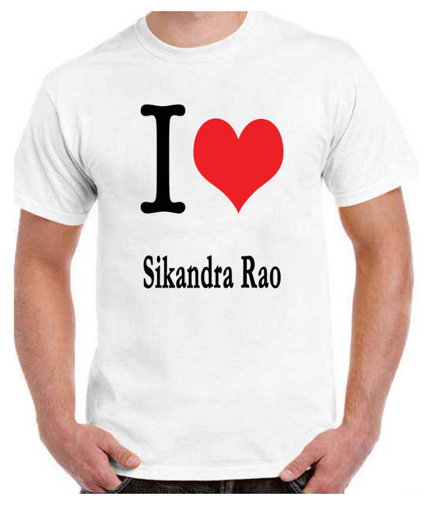 RITZEES White Dry-Fit Polyester Tshirt on I Love Sikandra Rao