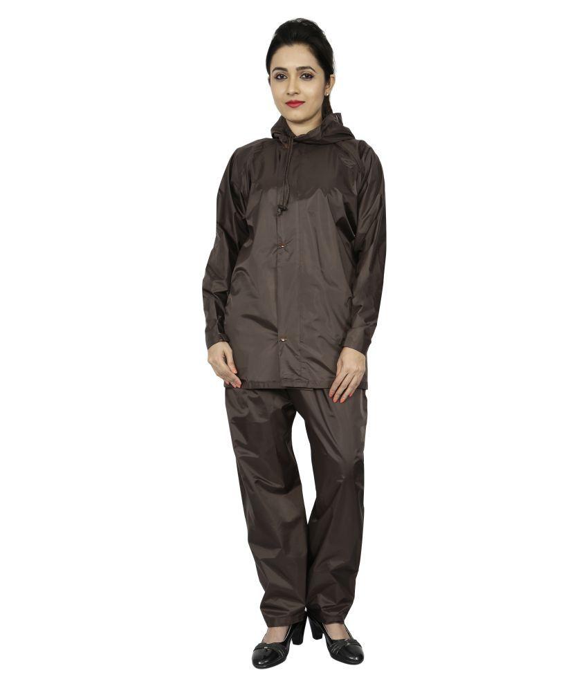 Reliable PVC Raincoat Set - Brown