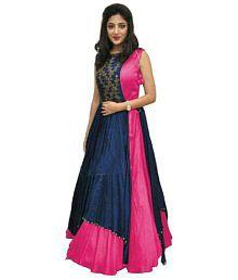 Tithi Texofab Multicoloured Bangalore Silk Dress Material