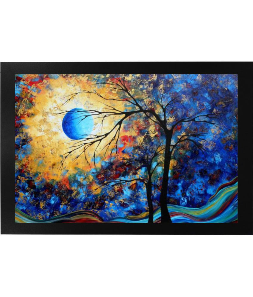 . Narayani Modern Art Painting Paper Painting With Frame