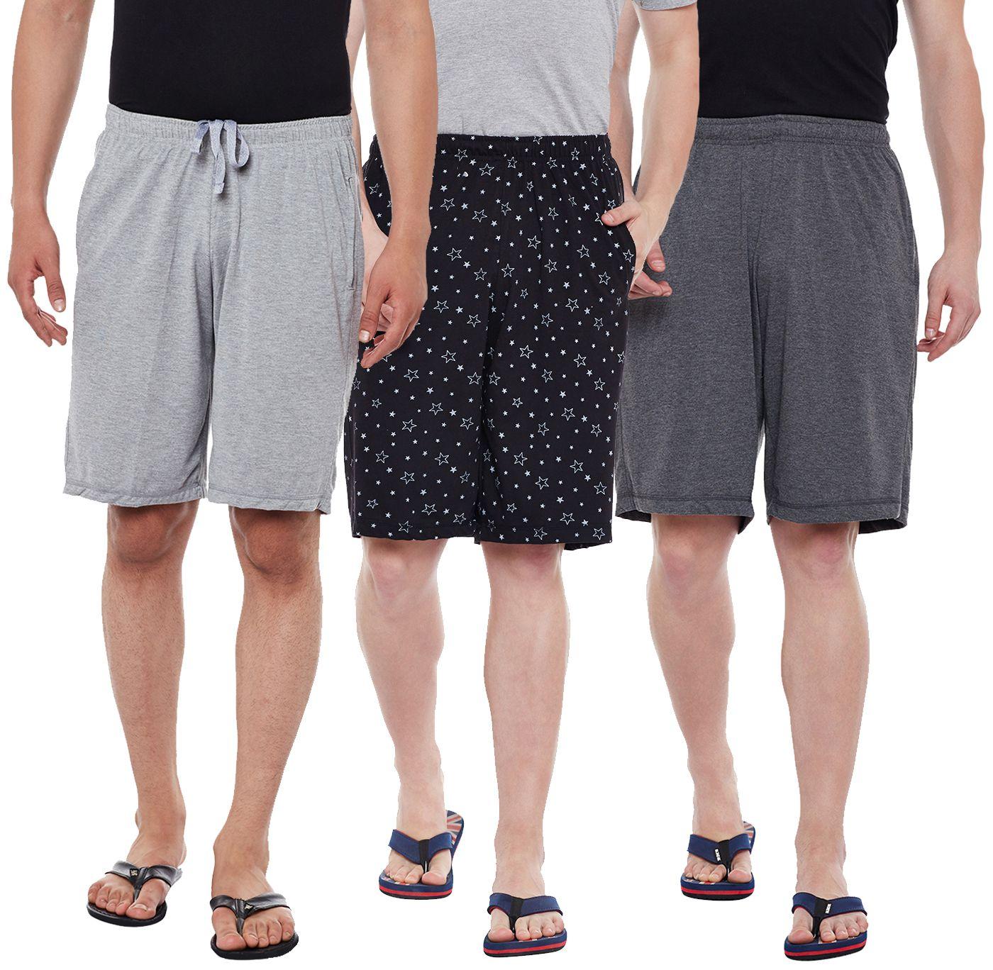 Vimal Jonney Multi Shorts Pack Of 3