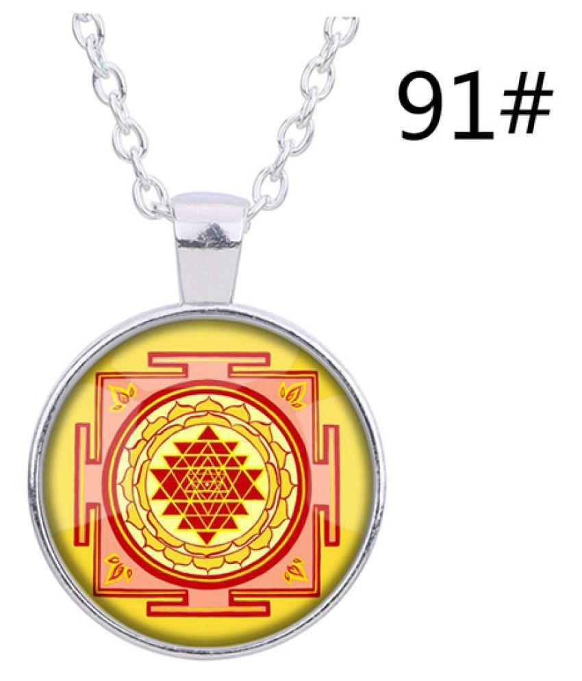 Kamalife New 3d Fashion Design India Southeast Asia Sri Lanka Sri Lanka Time Gemstone Glass Pendant Necklace Diy Jewelry Lover Beautiful Gift  91