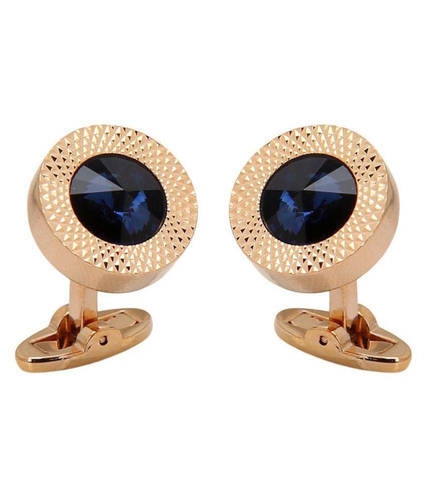 Beadnicks Heart Jewellery Copper Cufflinks Rose Gold