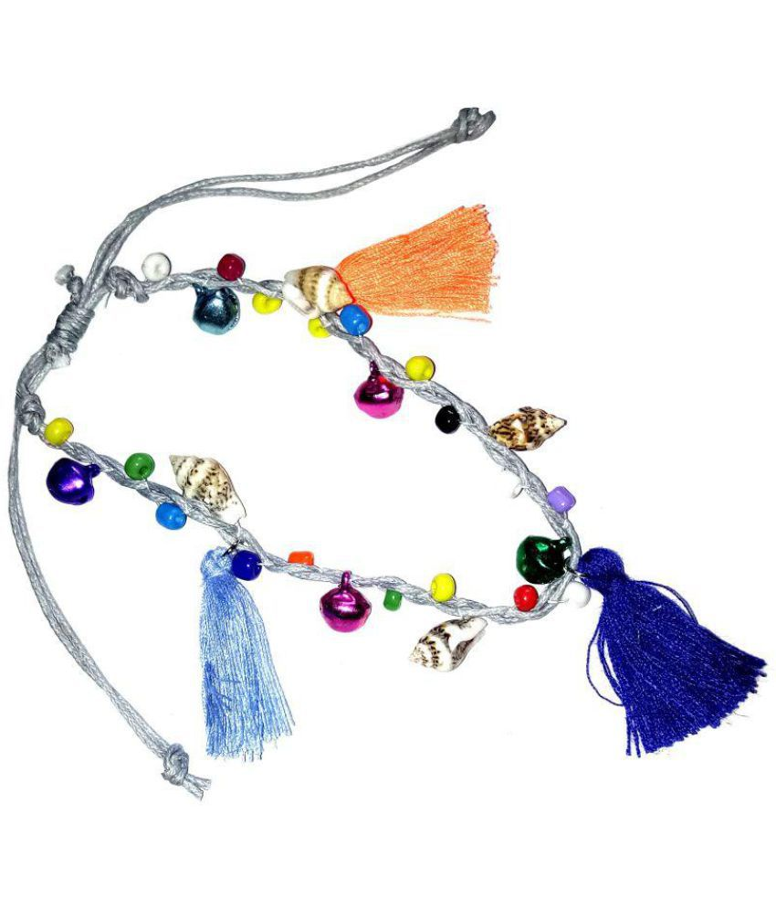 Fashionable Multicolor Thread anklet by shrungarika
