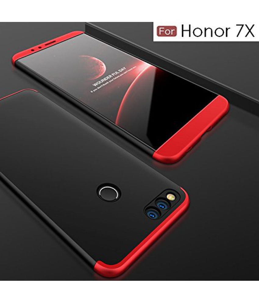 Huawei Honor 7X Hybrid Covers BEASTIN - Black 3 in 1 Double Dip All Side  Protect Matte Hard Case