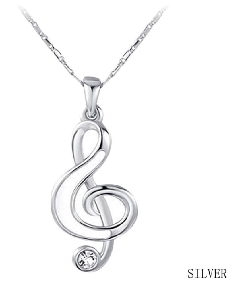 Kamalife 2017 Necklace for Womens Necklace Music Note Pendant Elegant Necklace Rose Gold Color Chain Charm Chocer Gift