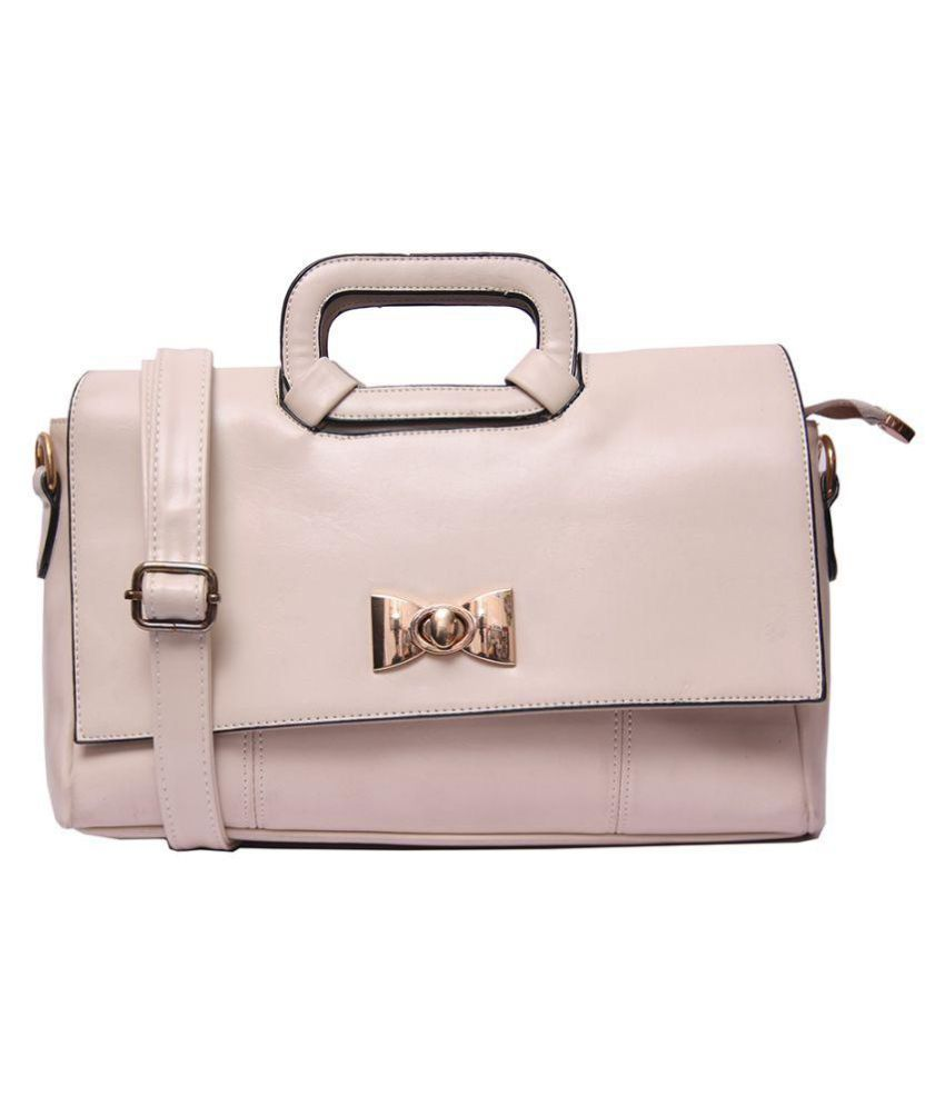 Louise Belgium White Artificial Leather Handheld