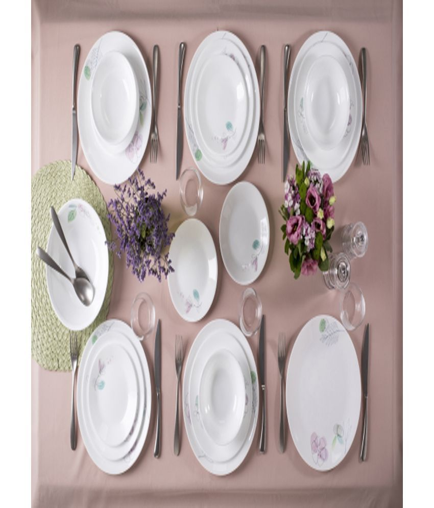 Corelle Poetic Melody Glass Dinner Set of 12 Pieces