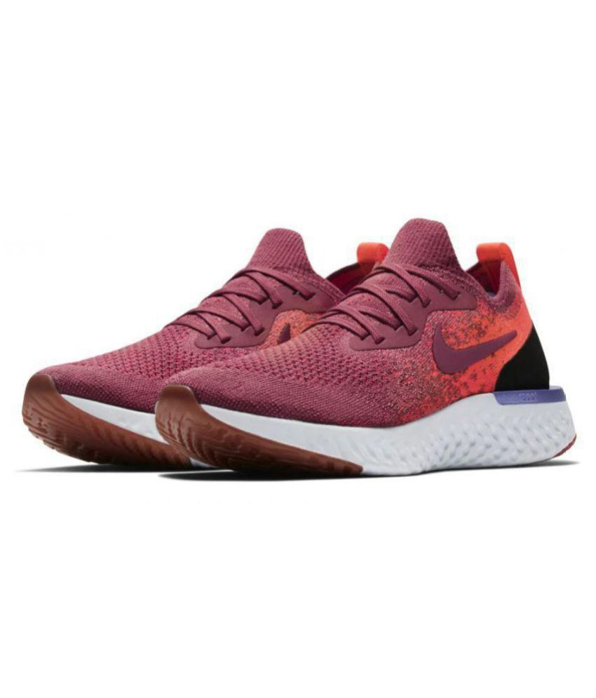 newest collection b6ad1 6f2fb Nike EPIC REACT FLYKNIT Red Running Shoes