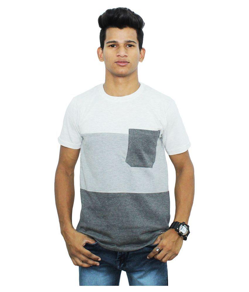 TheShopor White Round T-Shirt