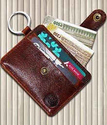 POLLSTAR Leather Brown Formal Traveller Wallet