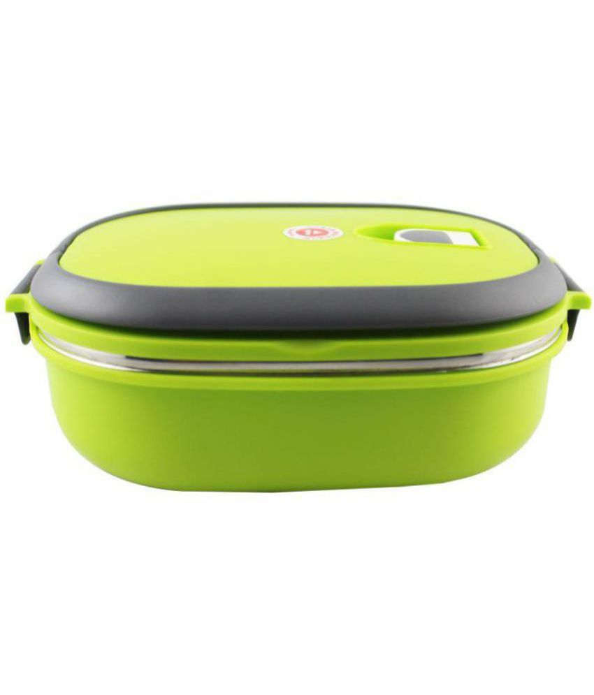 Jeeya Green Steel Lunch Box