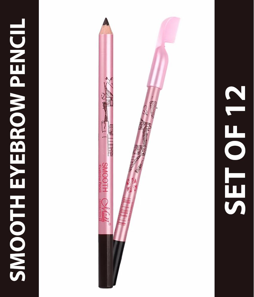MeNow Smooth Eyebrow Pencil With Eyebrow Comb Set Of 12