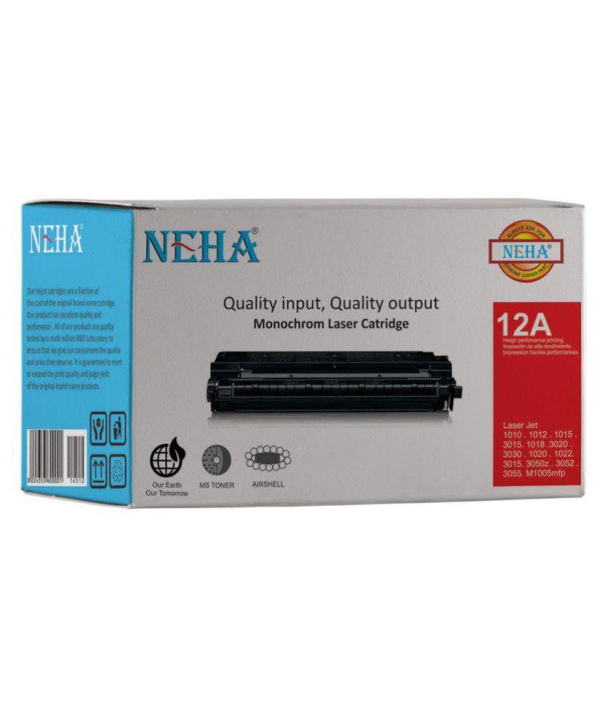 Neha 12A Black Single Toner for HP LASERJET 1010,1012,1015,3015,1018,3020,3030,1020,1022,3015,3050,3052,3055,M1005MFP