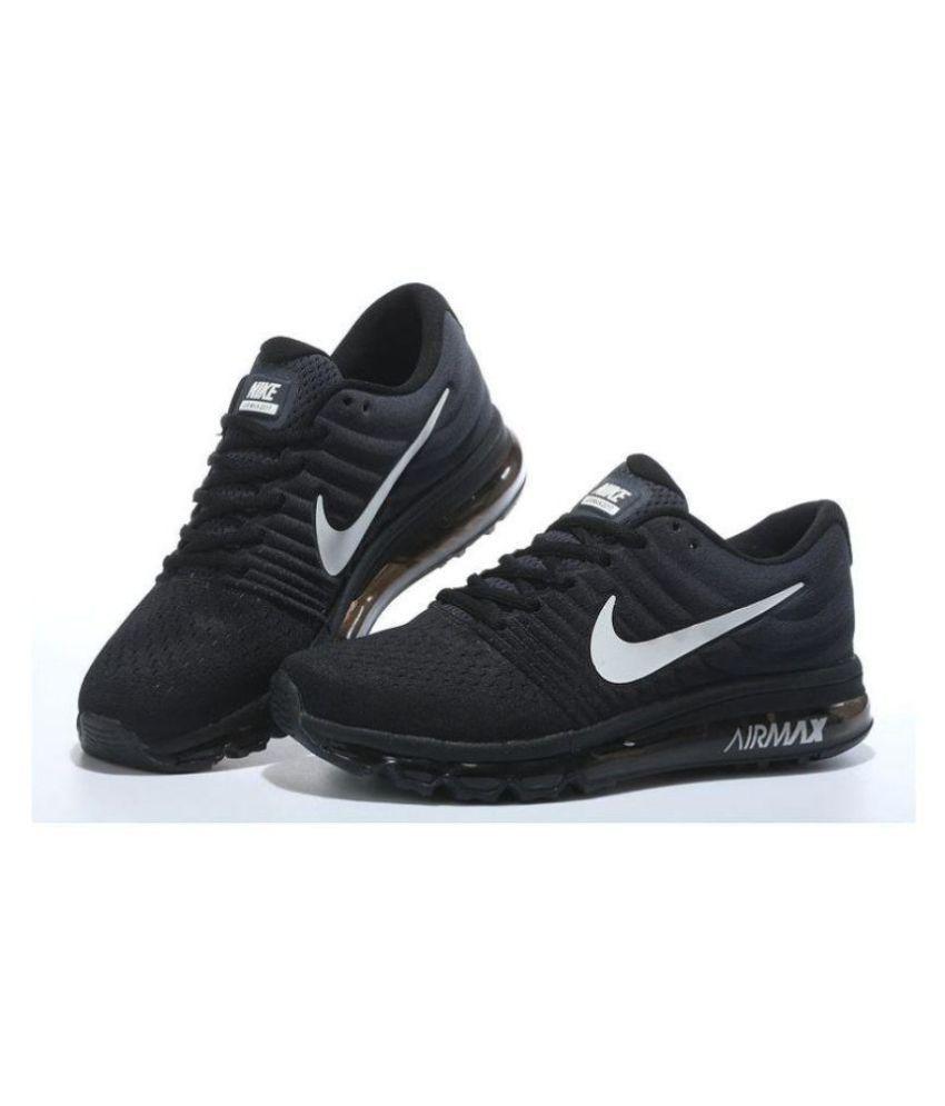 pretty nice 0f59e dbddd Nike Airmax 2017 Black Running Shoes ...