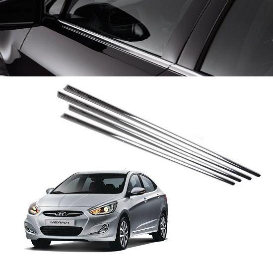Buy Trigcars Hyundai Verna Car Window Lower Garnish Online At Low