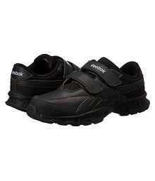 Reebok Boy's Racer KC LP School Black velcro School shoes |Sports Shoes