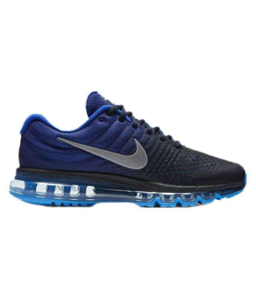 new style a3328 dbe91 Nike AIRMAX 2017 Blue Running Shoes - Buy Nike AIRMAX 2017 Blue Running  Shoes Online at Best Prices in India on Snapdeal