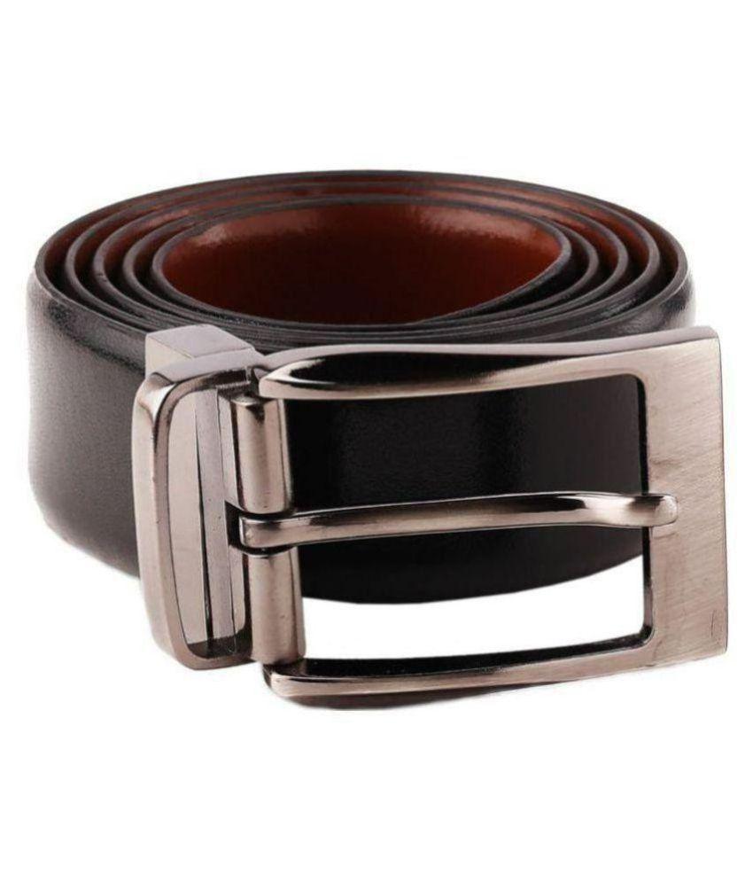 Woodland Scenics Black Faux Leather Formal Belt - Pack of 1