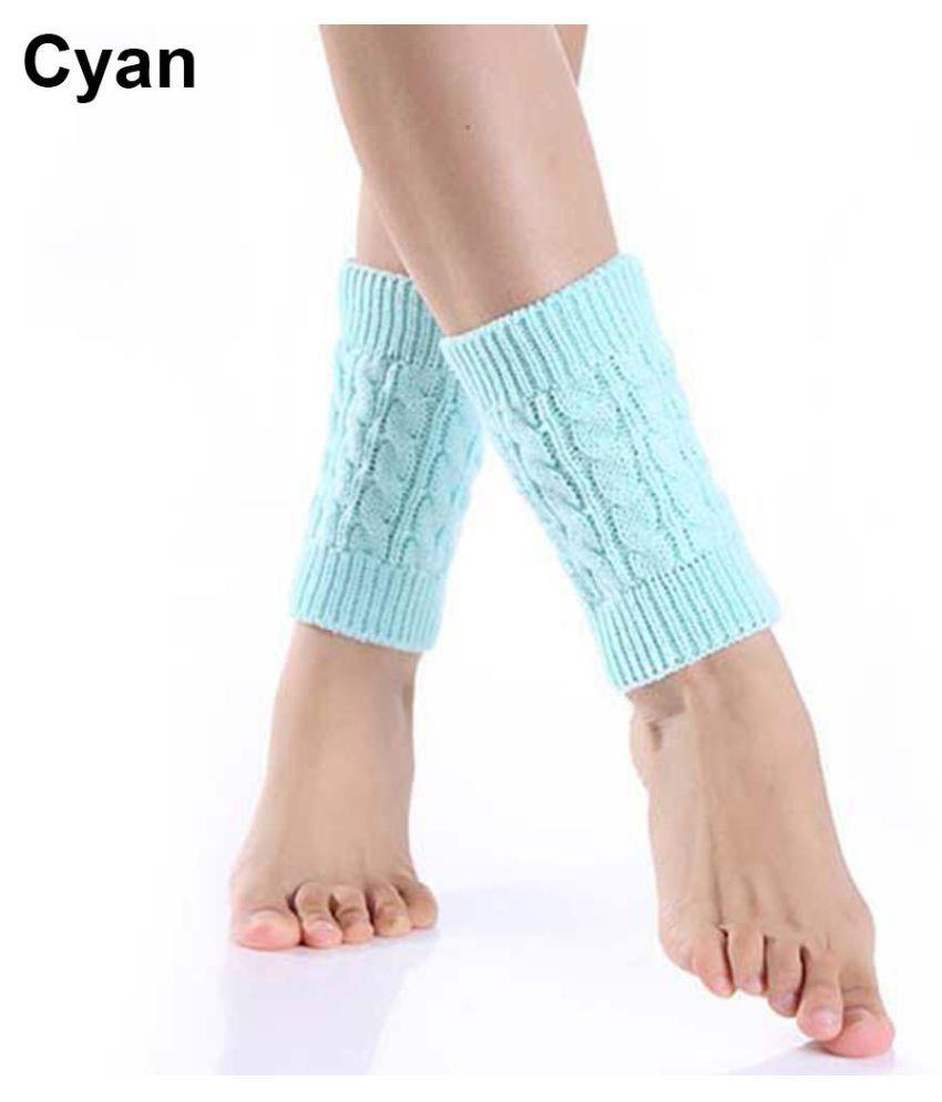 Women Fashion Winter Leg Warm Crochet Knit Twist Boot Socks Toppers Cuffs