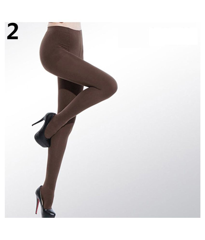 Women's Sexy Candy Color Velvet Stockings 120D Seamless Stretch Pantyhose Tights