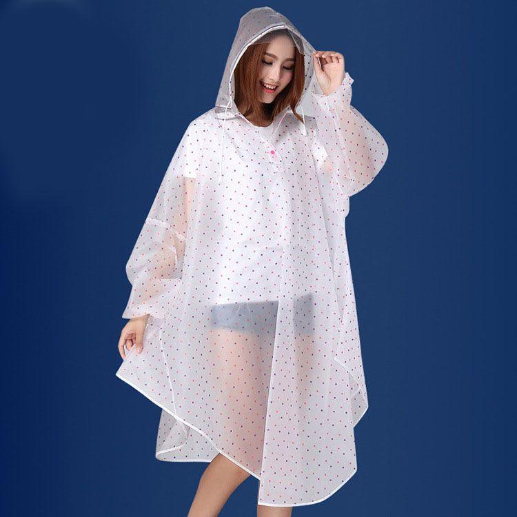 Kamalife Waterproof Long Raincoat - White