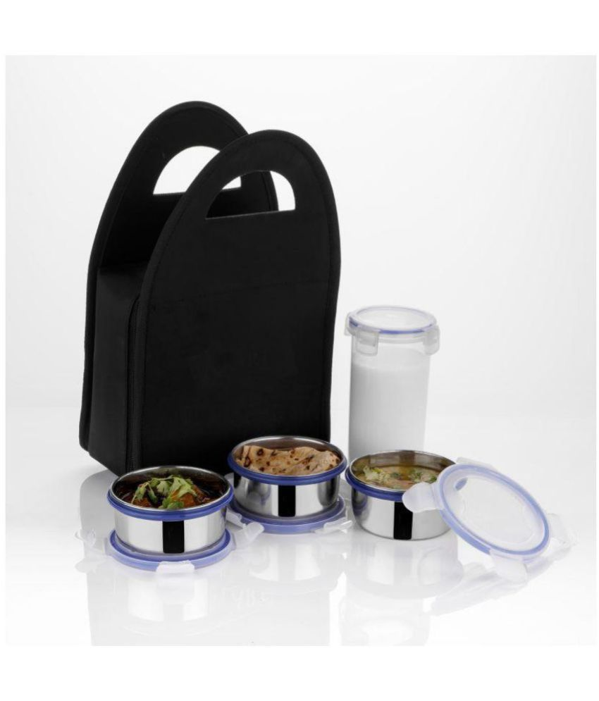 Vittamix Silver Stainless Steel Lunch Box