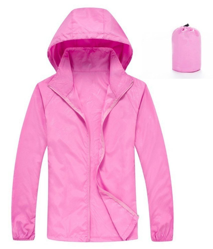 Changing Destiny Polyester Long Raincoat - Pink