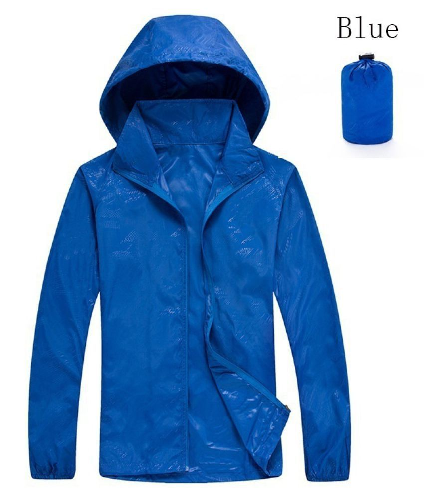 Changing Destiny Polyester Long Raincoat - Navy