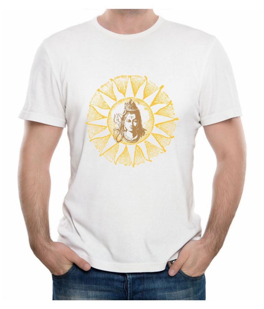 CACA ANP White Lord Shiva Mahadev Mahakaal Bholenath T-Shirt