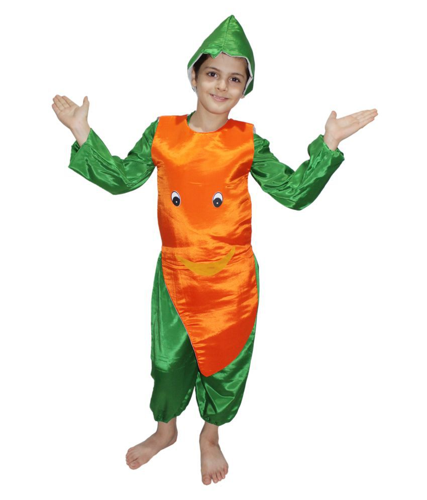 b5645eaca24f ... Kaku Fancy Dresses Smily Carrot fancy dress for kids,Fruits Costume for  School Annual function ...