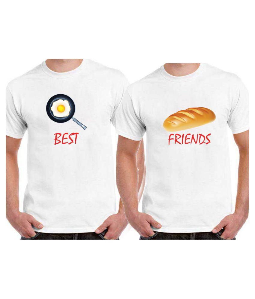 Ritzees White Round T-Shirt Pack of 2
