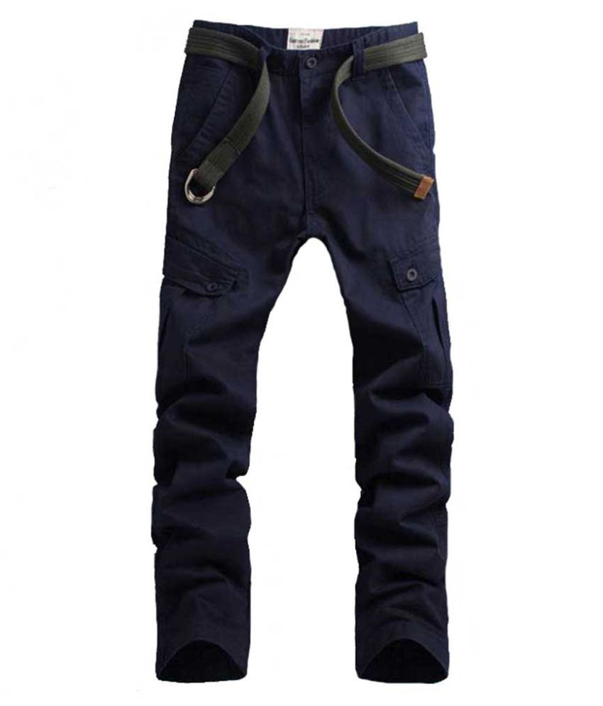Whitleys Blue Regular -Fit Flat Trousers