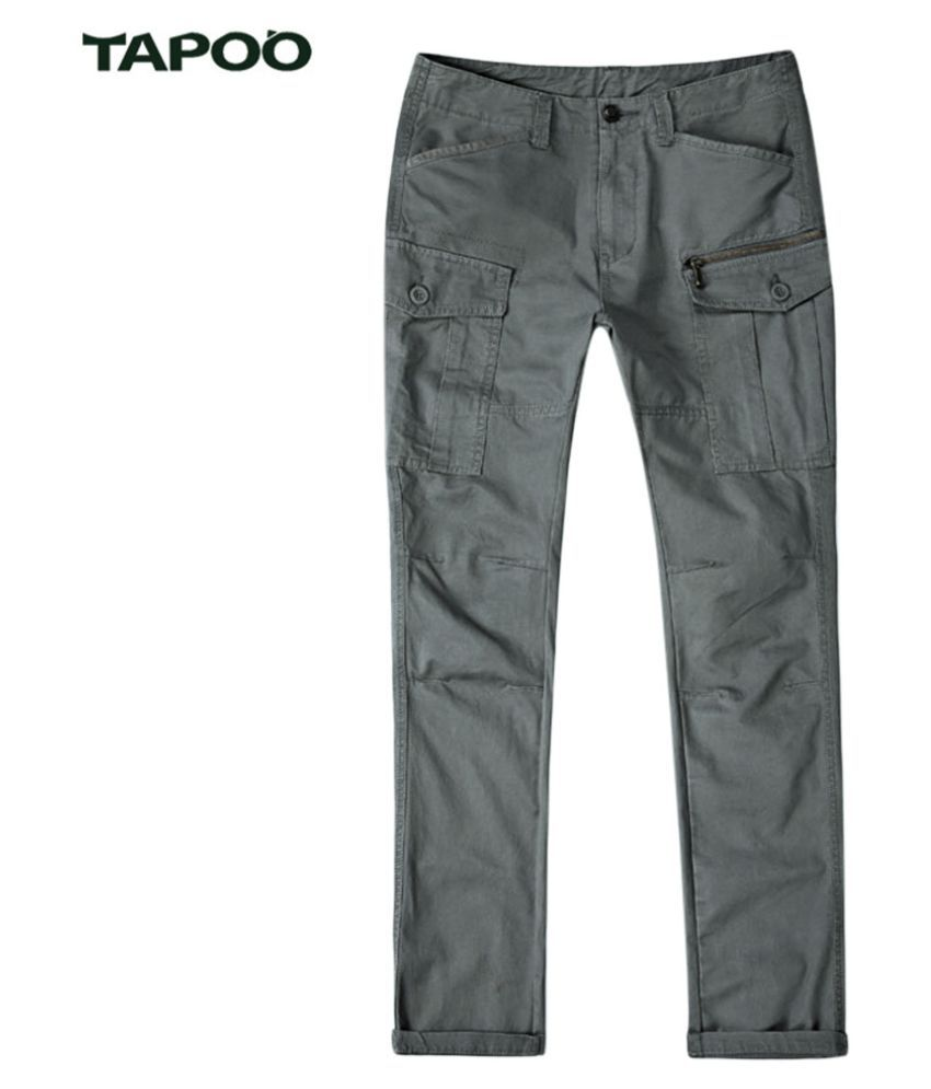 Whitleys Grey Regular -Fit Flat Trousers