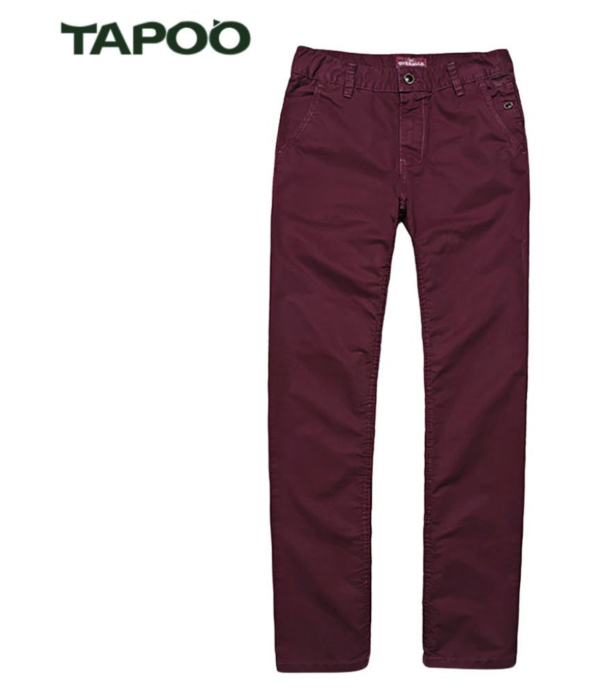 Whitleys Red Regular -Fit Flat Trousers