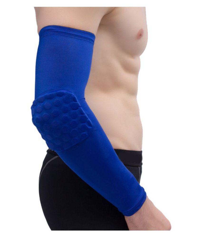 3a578a379e ... Futaba Honeycomb Crashproof Basketball Arm Sleeve Elbow Support - Blue  - L ...