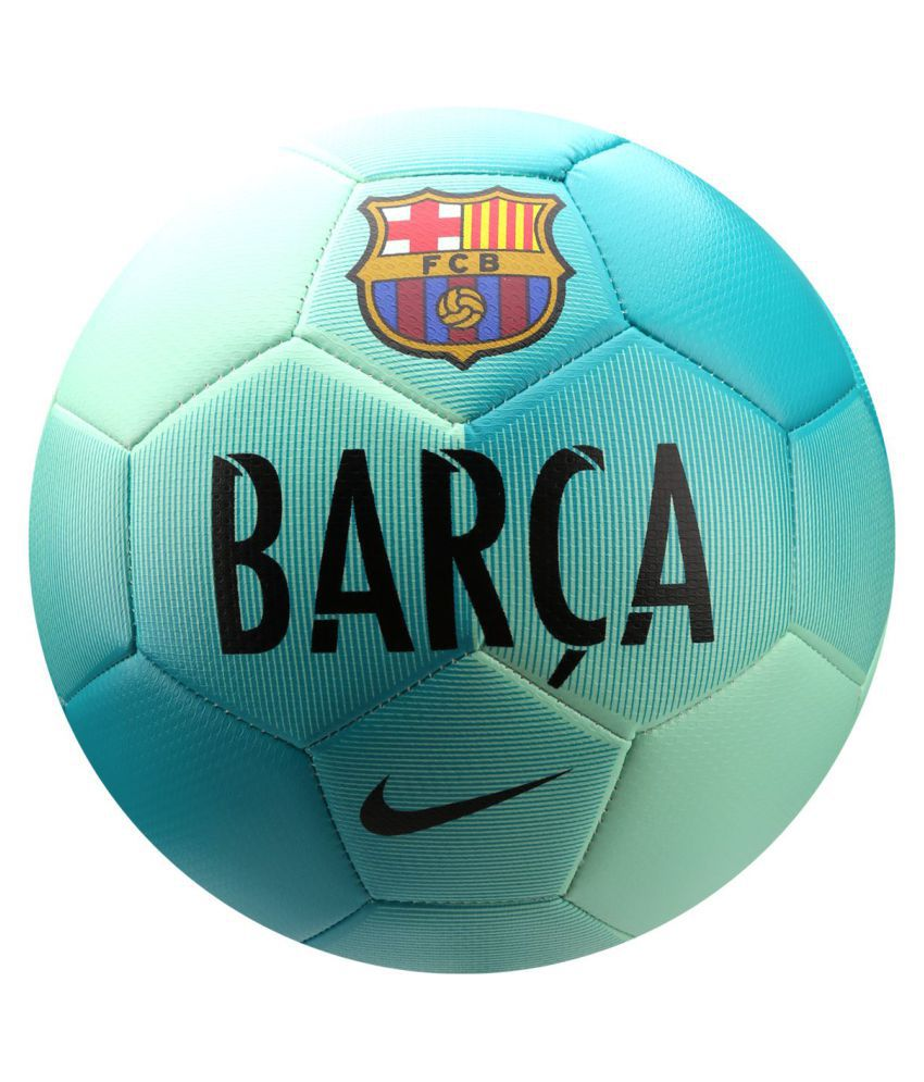 dea938c86a1 Nike FC Barcelona Green Football / Ball Size- 5: Buy Online at Best ...