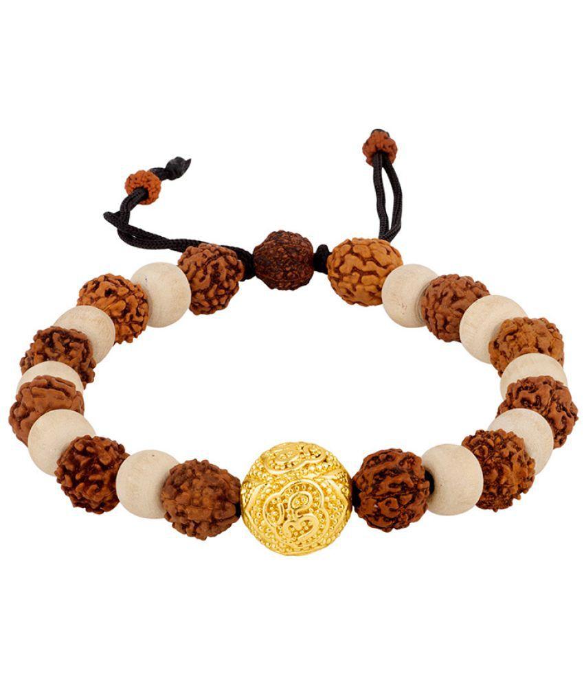 Voylla Golden OM Bead Bracelet from Mahadev Collection