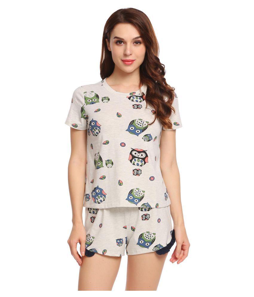 Generic Cotton Pajamas - Tan